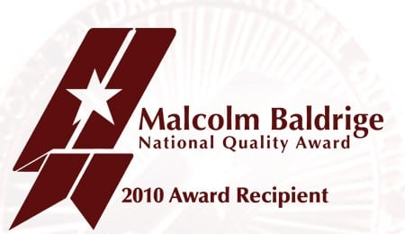 Malcolm Baldrige Award - 2010 Recipient